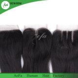 Черный бразильского Virgin аксессуары человеческого волоса закрытия