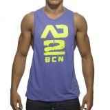 Magliette giro collo di forma fisica degli uomini della parte superiore di serbatoio degli abiti sportivi con il marchio dell'OEM