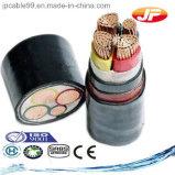 Câble d'alimentation isolé et engainé de PVC de basse tension de 4 faisceaux