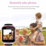 Sicherheit beweglicher Chlid/Kinder GPS-Verfolger-Uhr mit SIM Karte-Schlitz D26c
