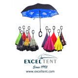 자동적인 휴대용 똑바른 거꾸로 한 차 반전 우산