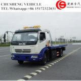 De maximum Vrachtwagen van het Slepen van de Snelheid 100km/H Lage Flatbed met Kraan