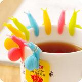 Supporto caldo della bustina di tè del silicone di figura della lumaca di vendita