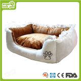 Qualität stickte gedrucktes weiches Plüsch-Haustier-Bett
