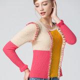2018 neuer Sprung/Fall-bunte Strickwaren für Frauen-Pullover-Strickjacke-Form