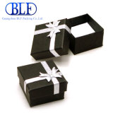 سوداء ورق مقوّى ورقة هبة يعبّئ صندوق ([بلف-بب046])