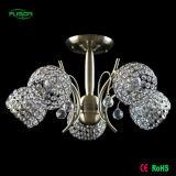 Bola de cristal decorativo europea entrega araña de luces de iluminación de techo para el hogar