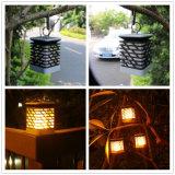 방수 가벼운 LED 초 야드 안뜰 정원 램프를 거는 옥외 태양 손전등