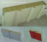 Изолированный огнеупорные рок шерсть металлических сэндвич панелей для крыши