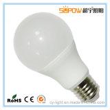 Luz da lâmpada do diodo emissor de luz A60 com o dissipador de calor para a luz de bulbo de 8 watts
