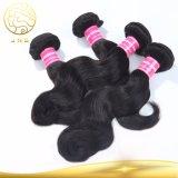 Китай оптовые дешевые черный природных женщина органа Виргинских человеческого волоса Weft кривой