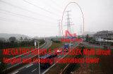 Multi torretta della trasmissione di tangente e dell'incrocio del circuito di Megatro 500kv 5-2gt2-Sszk