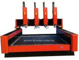 Legno, acrilico, plastica, alluminio, pietra, macchina rotativa del router di CNC 3D