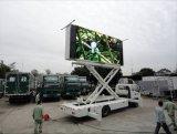 El panel de pared video a todo color al aire libre del carro impermeable LED de P16mm