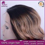 2t de onda de cuerpo de color rubio cabello indio encaje frontal peluca