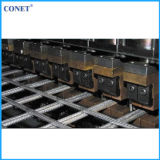 海外サービス半自動補強された金網のパネルの溶接機(ラインワイヤーおよびクロスワイヤー5-12mmとのHWJ3200)