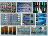 Étiquette imperméable à l'eau adhésive de fiole d'hologramme de l'injection 10ml