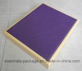 Caja de joyería de madera hecha a mano de lujo con la manija