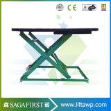 Chariot hydraulique électrique réglé table élévatrice à ciseaux