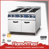 intervallo di gas 6-Burner con la strumentazione indipendente della cucina del Governo (HGR-76)