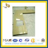 Gouden Gele Countertop van de Steen Artifial voor de Bovenkant van de Keuken