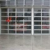 Двери гаража подъема автоматической алюминиевой перспективы рамки стеклянные