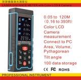 laser-Abstands-Messinstrument LCD-bunte Bildschirmanzeige 120m Laser-Diastimeter Hand
