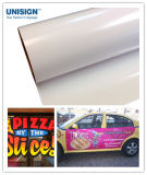 Etiqueta engomada auta-adhesivo del vinilo del pegamento negro/gris/blanco
