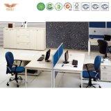 4人のための現代様式の鉄骨フレームのオフィス表のオフィス用家具のオフィスワークステーション