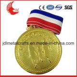 Neuf médailles molles du football de sport en métal de sport d'émail de modèle