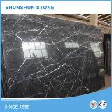 Lastra di marmo nera Polished di Nero Marquina per la parete del controsoffitto ed il pavimento