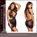 High Neck Sexy Women Seamless transparency baby Doll Lingerie (21702)