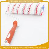 Spazzola all'ingrosso del rullo di vernice del tessuto della miscela dell'OEM con la maniglia di plastica