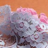 Оптовая продажа ткани шнурка черноты вязания крючком картины волны полиэфира высокого качества