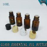 10ml Cilindro Pequeño Tornillo Vacío Botella De Vidrio De Aceite Esencial De Ambar