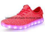 Het in het groot Licht van de Lader van Schoenen USB op LEIDENE Schoenen voor Vrouwen/Mannen