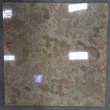 白いカラー十分に艶をかけられた磨かれた大理石の床タイル
