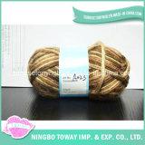 Il commercio all'ingrosso del filato del tessuto colora il filato di lana robusto delle pecore del Brown