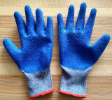 Interpréteur de commandes interactif de filé/gant tricotés de travail de sûreté coton de nitriles enduits par latex