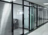 Cloison de séparation en verre en aluminium en bois de bureau moderne (NS-NW085)