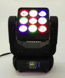 Der Qualitäts-9X10W bewegliches Hauptlicht Matrix-Panel-des Träger-LED