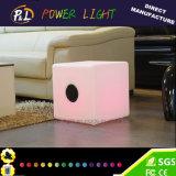 Lumière sans fil de cube en haut-parleur de Bluetooth DEL