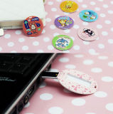 Carte ronde, lecteur flash USB, impression couleur, promotion, promotion, cadeau