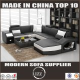 L'americano progetta il sofà del cuoio di figura di U per il salone