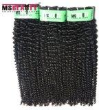 Msbeauty加工されていないインドのRemyの毛のねじれた巻き毛