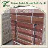 Listones de madera fondo curvo con papel Haya