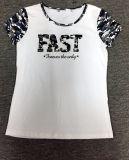 T-shirt fait sur commande en gros de mode d'hommes avec le logo