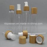 Frasco branco do animal de estimação do empacotamento plástico com tampão de bambu (PPC-BS-069)