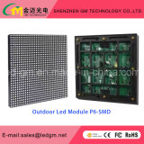 P6mm alta luminosidade exterior SMD LED fixo