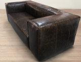 Sala de estar sofá, sofá de 3 lugares, Fulham sofá de couro Yh-309